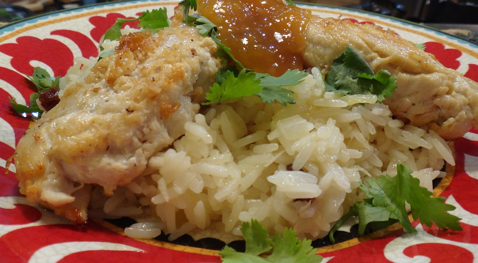 Lime Chicken with Caribbean Madras Rice