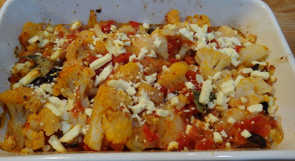 Cauliflower with Tomatoes & Feta Cheese