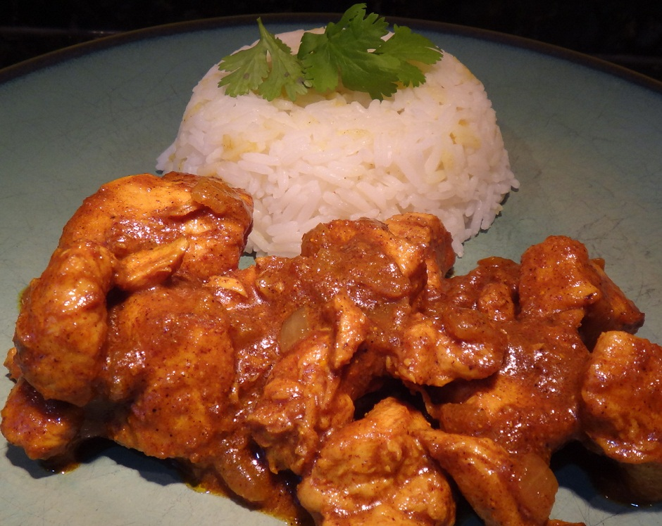 Vindaloo Chicken with Rice